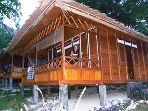 4 Bungalows im Raja Laut Resort