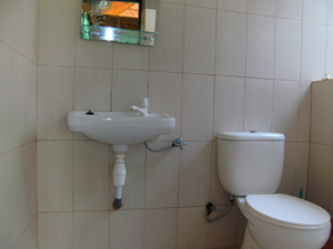 "Western toilet in one of the ""luxury bungalows"""