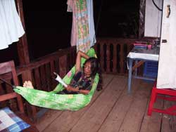 A hammock big enough for my Indonesian wife