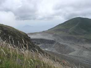 Look on the crater and on the islands of Bunaken and Manado Tua